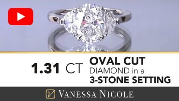 Three Stone Oval Cut Engagement Ring for Sarah