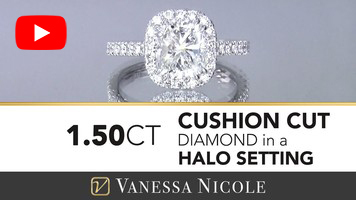 Cushion Cut Halo Ring for Laura