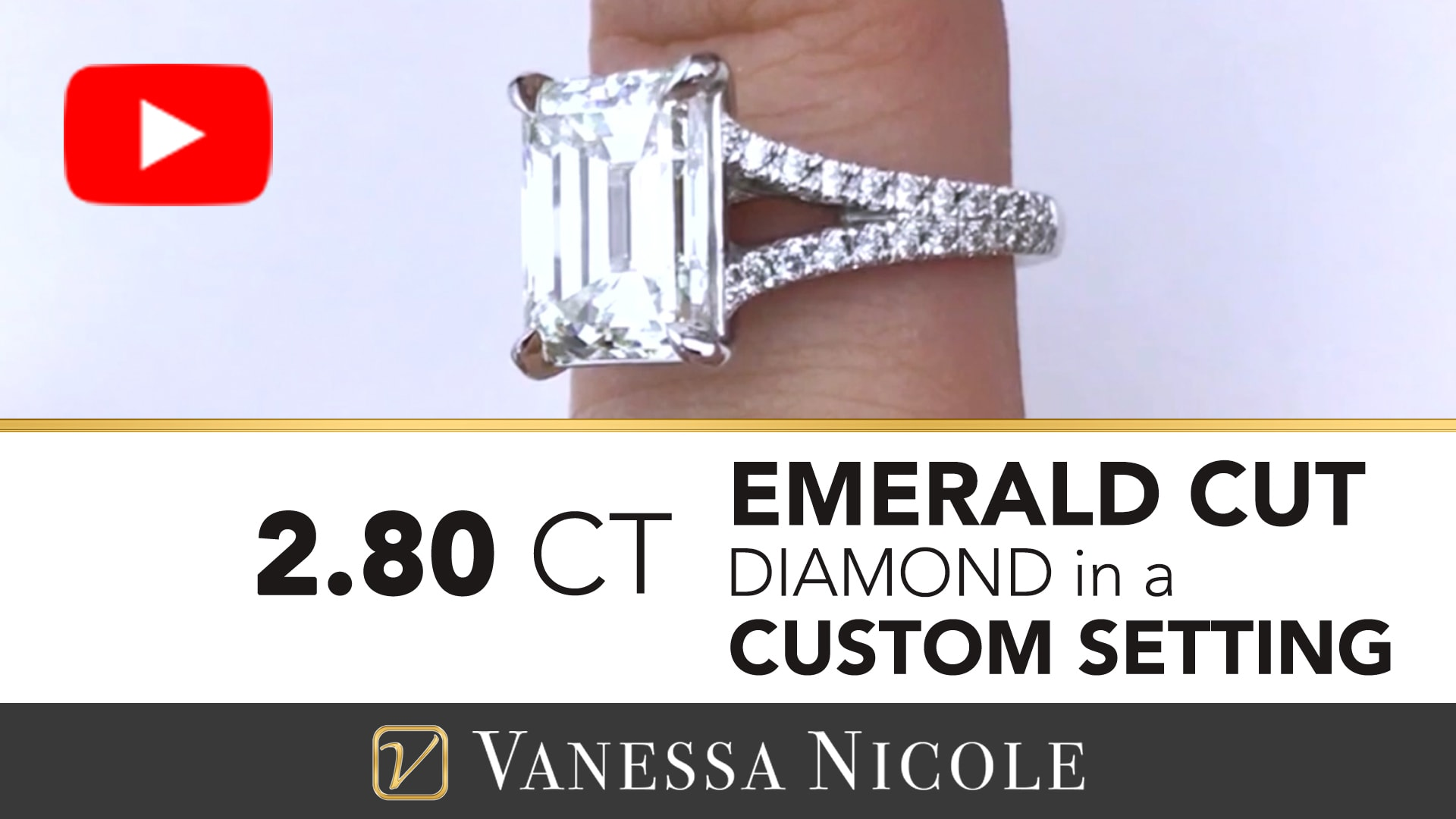 EMERALD CUT DIAMOND RING | Split Shank Emerald Cut