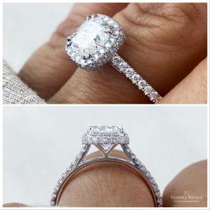 Double Edge Halo Engagement Ring